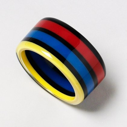 Bold In Stripes Bangle: Cat, Stripes Bangles, Claire S, Resins Bangles