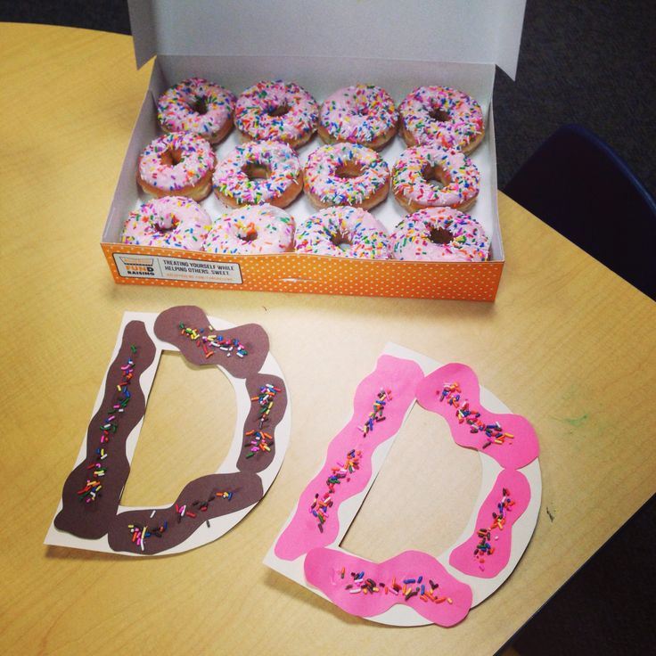 Letter d donut craft preschool...and a great excuse to eat donuts:)
