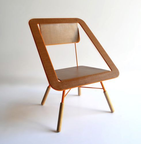 Original design chair / solid wood / cork / painted steel 4×4   Different and Different