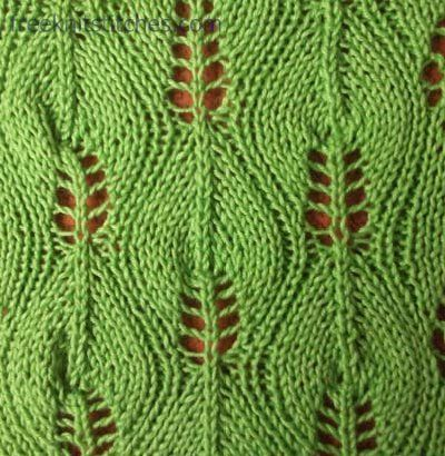 Birch knitting stitch