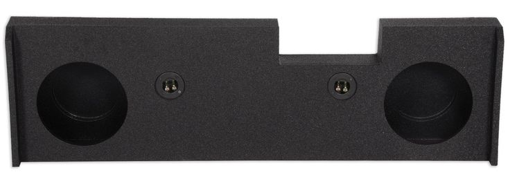 """Rockville Dual 10"""" Sub Enclosure Box 2014-Up GMC/Chevy Sierra/Silverado Crew Cab. Rockville Dual 10"""" Sub Enclosure Box 2014-Up GMC/Chevy Sierra/Silverado Crew Cab. 2hole 10"""" for GMC/Chevy 2014-2016 Crew Cab. Underseat Downfire. Finished with Durable Bed Liner. 2014- Current GMC/Chevy Crew cab, Does NOT fit Double Cab. Air Space: 0.63 Cubic Feet (per sub). Mounting Depth: 4.5""""."""