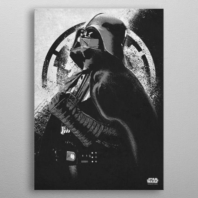 Darth Vader Poster Print By Star Wars Displate In 2021 Darth Vader Poster Star Wars Artwork Star Wars Illustration