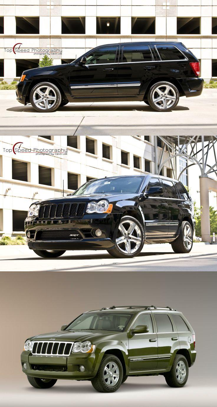 Black 2008 jeep grand cherokee srt8