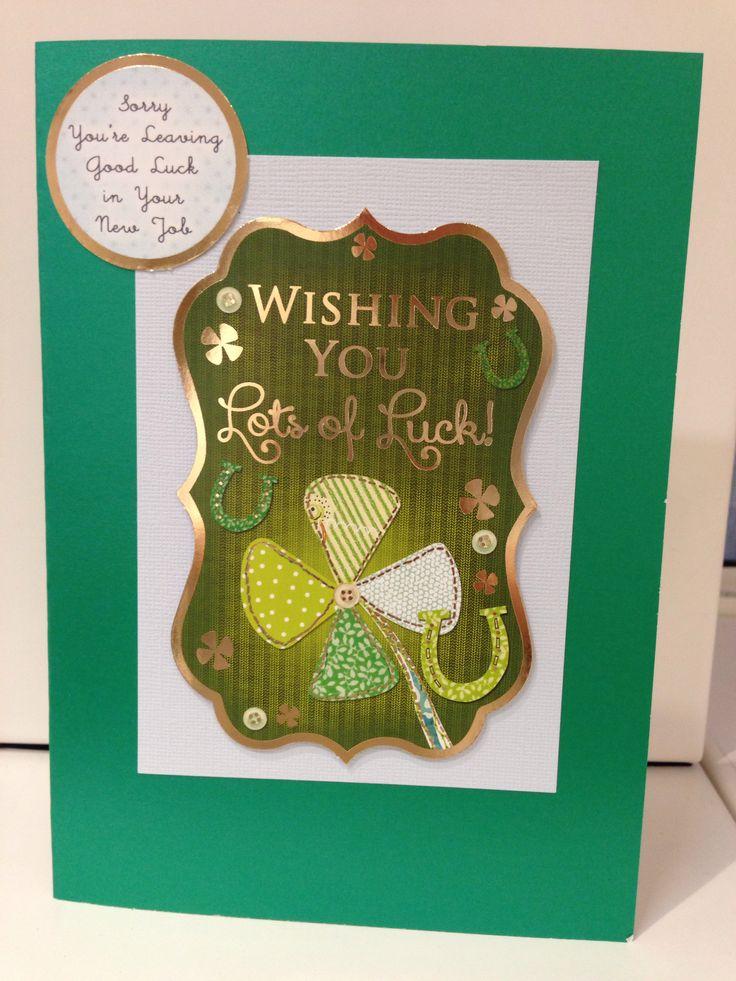 23 best Good luck cards images on Pinterest Card ideas, Cards - good luck card template