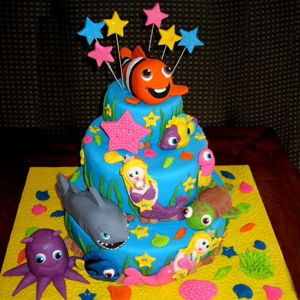 Nemo Cake: 166 Best Finding Nemo Cakes Images On Pinterest