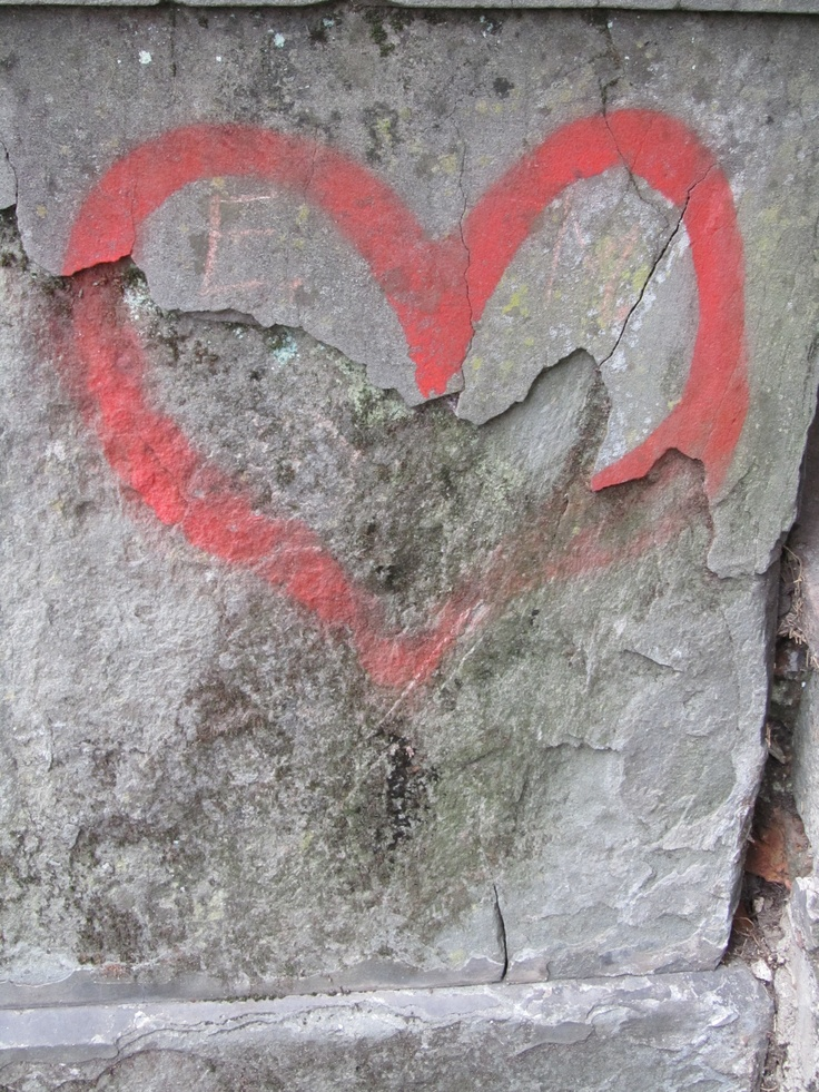 Graffiti heart in Florence, Italy