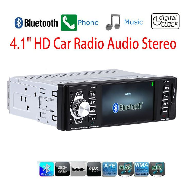 4.1 Inch In-Dash Car Bluetooth Stereo Aux USB/SD/FM/ Vehicle Radio Player 1 Din #Lumsing