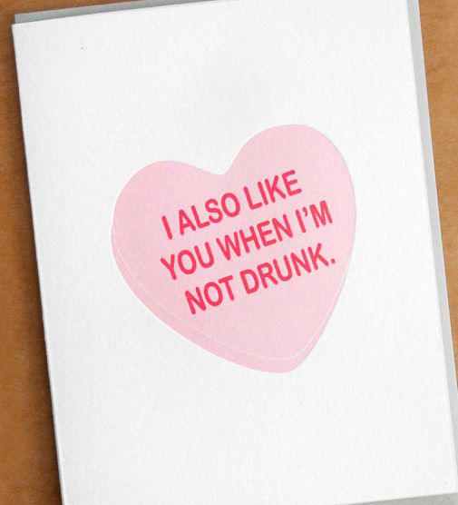 Newly dating valentines day card