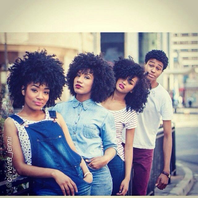 Natural hair siblings.