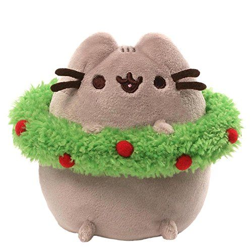 Gund Pusheen Holiday Plush with Wreath GUND https://www.amazon.com/dp/B015329I9I/ref=cm_sw_r_pi_dp_x_F5GTxbXNVFK9V