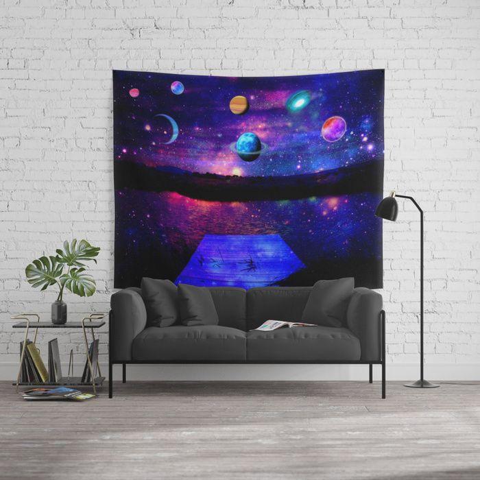 Universe Wall Tapestry  #universe #homedecor #homedecoration #artdeco #space #planets #society6 #bestseller #walltapestry #walltapestries #christmasshopping