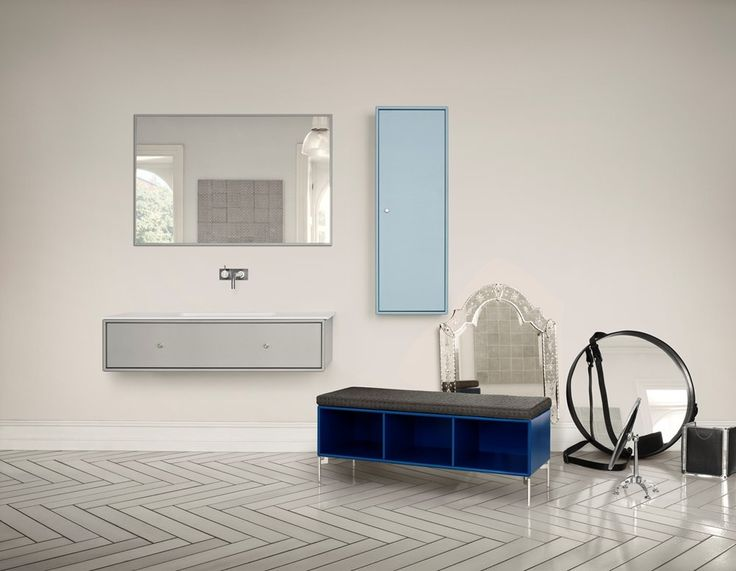 Montana Bathroom in blue colours. #montana #furniture #danish #design #blue #marroco #navy #indigo #colour #cabinets #bathroom #montanafurniture