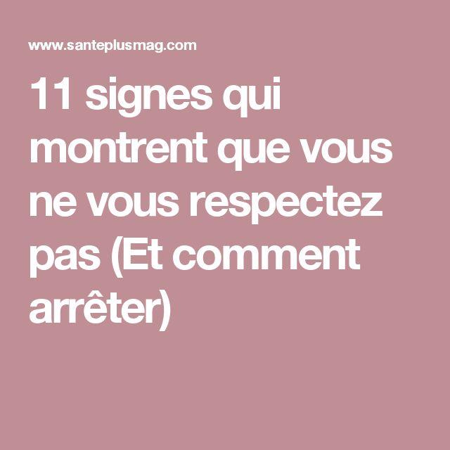 11 signes qui montrent que vous ne vous respectez pas (Et comment arrêter)