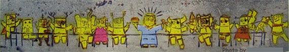 Jesus Last Supper Magnet  Photograph of Graffiti by Ilovetelaviv $1.99 on etsy.com