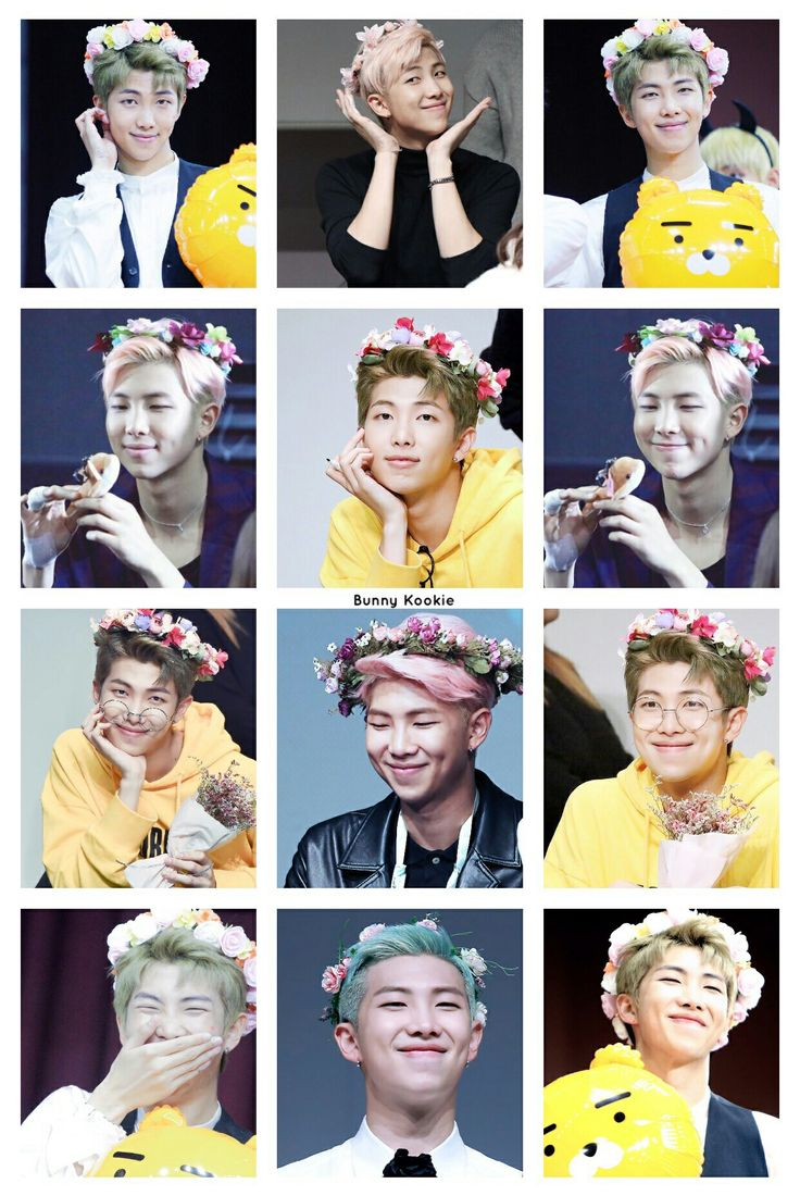 51 best boys in flower crowns images on pinterest bts bangtan boy aww baby im a flower crown namjoon looks so cyoot with one on izmirmasajfo