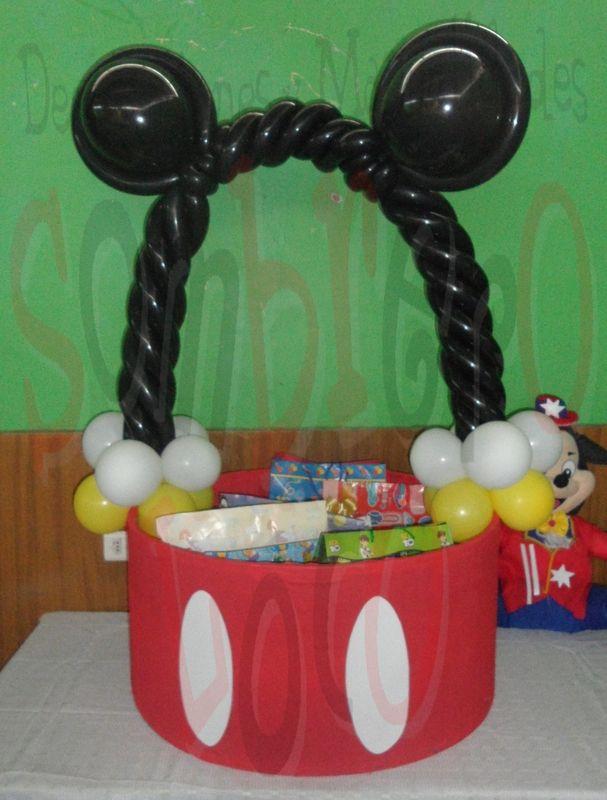 Caja de regalos mickey mouse party for mat as for Regalos para fiestas de cumpleanos infantiles