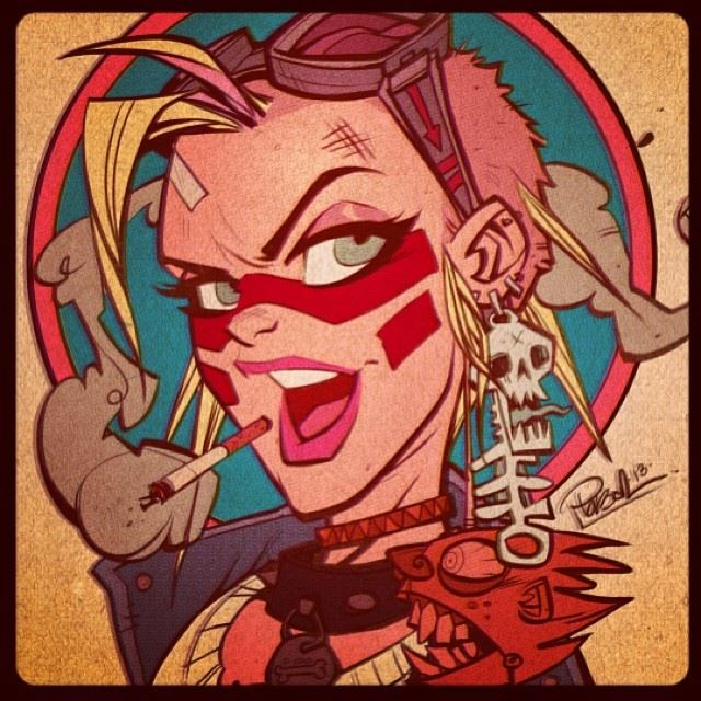 Tank Girl by Brett Parson  Would look awesome framed on a wall