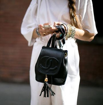 Trending Street Style atNew York Fashion Week Spring Summer 2014:Classic and Chic Backpack #chanel