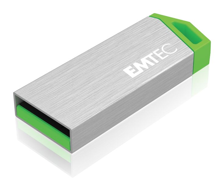 miniMetallic mini USB flash drive, front 3/4 - 8GB #EMTEC #FlashDrive