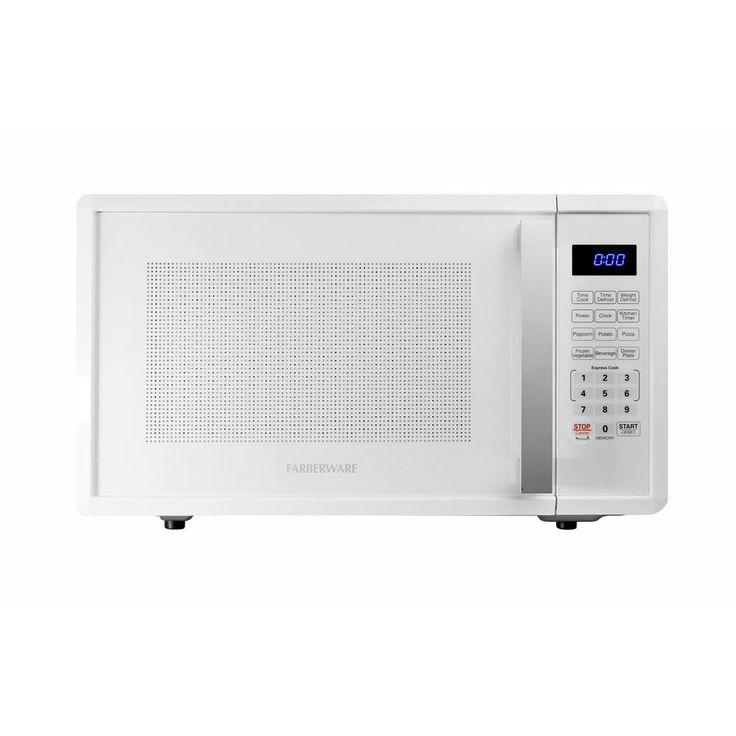 Farberware Pro 1.1 cu. ft. 1000-Watt Microwave Oven in White, Gloss White