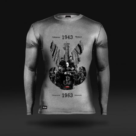 Koszulka sportowa Koszulka do biegania termoaktywna Żołnierze Wyklęci: Nieśmiertelni Bohaterowie -  - odzież sportowa Red is Bad
