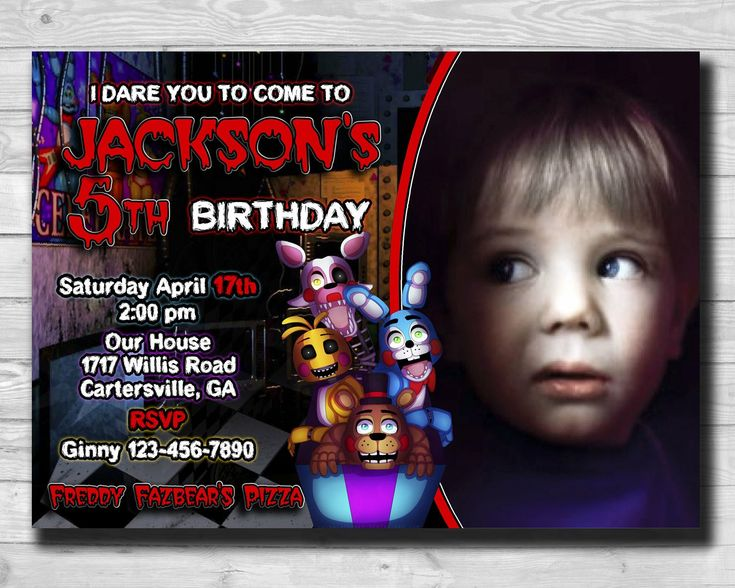Excited to share the latest addition to my #etsy shop: Five Nights at Freddys-Five Nights at Freddys Invitations-Five Nights at Freddys Party Supplies-FNAF Invitation-FNAF Photo Invites-Printable #birthdayinvitation #partyinvitation #fnafinvitation #fnafinvites #fnafphotoinvite #fivenightsat #freddys #fnafbirthday http://etsy.me/2iS7Y1x