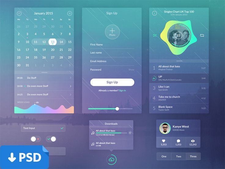 Here are a small ui I worked on in the last week or so to experiment a bit with transparencies and since I'll never use this stuff I decided to give it out for free. Enjoy.  DOWNLOAD PSD