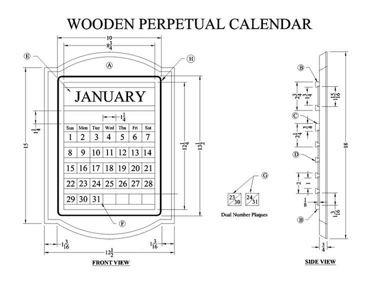 19 Best Perpetual Calendars Images On Pinterest | Perpetual