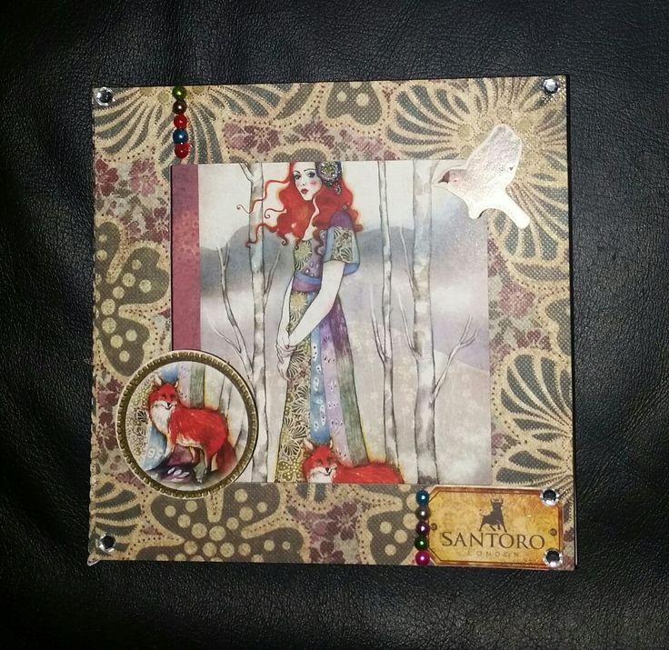 Santoro Willow Box card