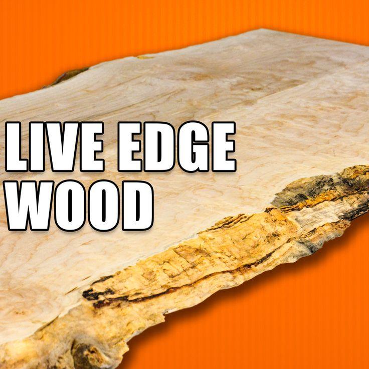 Working with Live Edge Wood / Live Edge Slabs. #woodworking #wood
