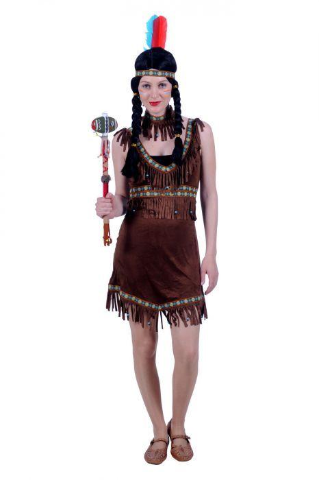 Carnavalskleding Dames Indiaan.Indianen Jurkje Indiaan In Een Zeer Fijn Dragende Stof En Bestaande