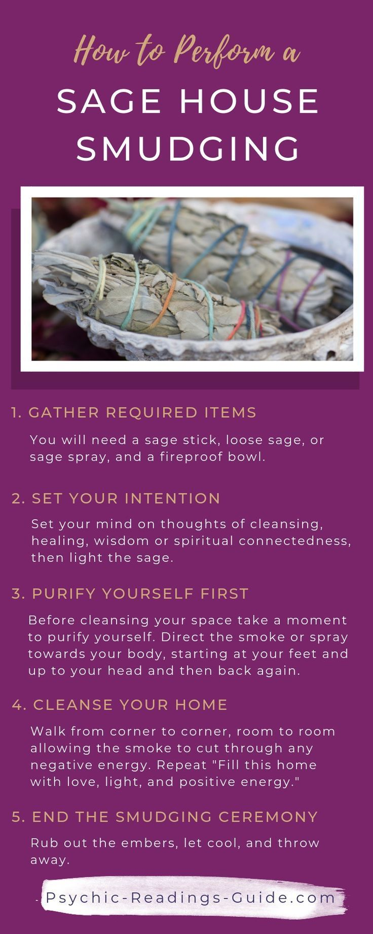 How To Do A Sage Cleansing In Your Home Sage House Sage Smudging Smudging