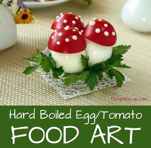 Hard Boiled Egg With Tomato Mushroom Top Recipe | RecipeRecap.com
