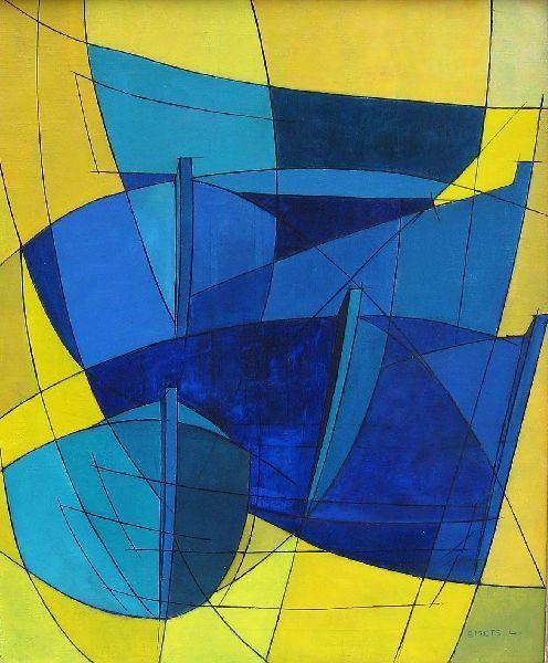 Leon Smets - Synthese Vissersboten, 1966