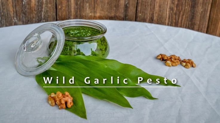 Wild Garlic Pesto - Vegan & Vegetarian versions!