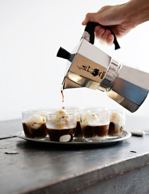 Vanilla gelato and espresso—would like one now!