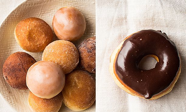 Homemade Doughnuts ~ Recipes and tips for making cake and yeast doughnuts, plus techniques for safe, easy deep-frying, glaze and topping ideas, and a guide to ingredients and tools.  Also info on making baked yeast doughnuts.