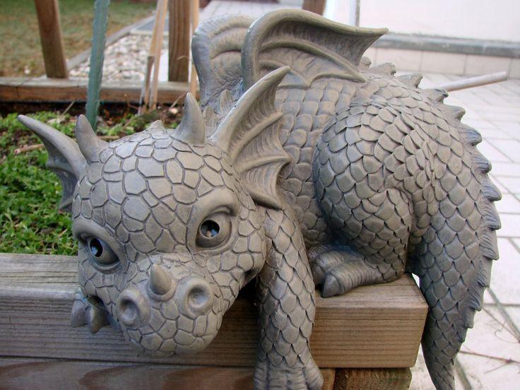 Statue de jardin en forme de dragon pour bordure Gauche: Amazon.fr: Jardin