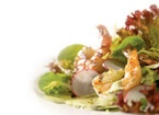 Grilled shrimp #salad with green goddess dressing by #AnnaOlson