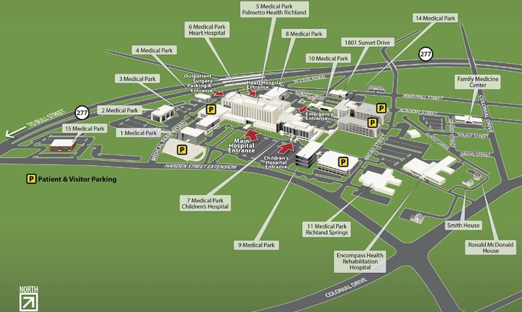 Richland Campus And Floor Plan Maps Prisma Health Midlands In 2020 Floor Plans Campus Richland