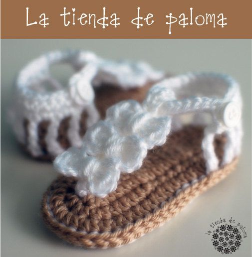 Crochet baby sandals - Baby booties - Baby shoes - Baby sandals - Baby gladiator sandals