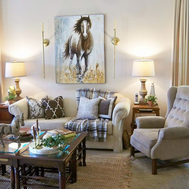 A Stroll Thru Life: Neutral Family Room & A Little Reality