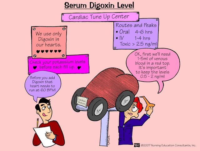 serum digoxin level