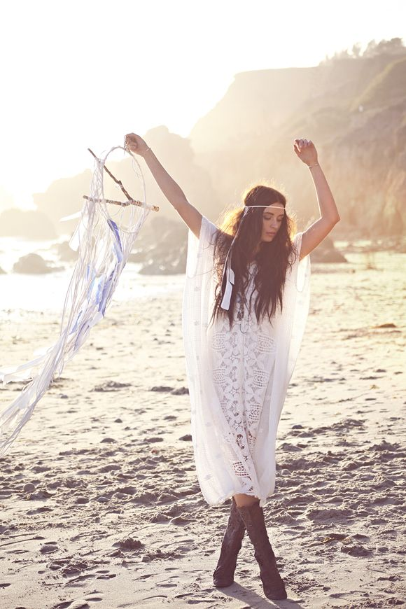 Wedding Inspiration – I Do | Free People Blog ......... pinning for the cool dreamcatcher made from that stick