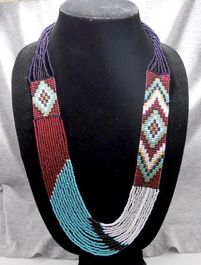 Free Jewelry Pattern The free Southwestern Style necklace pattern is absolutely eye catching.