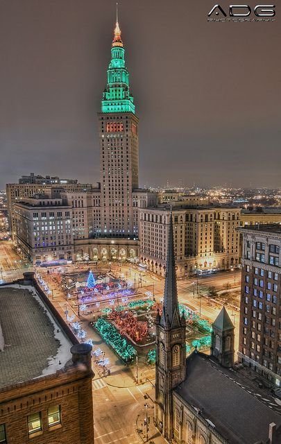 Christmas in Cleveland, Ohio Maybe I dont need to go to Europe to experience the beautiful cities, they are here in the US too!