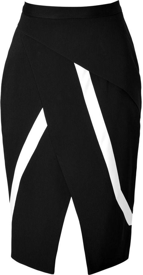 Peter Pilotto Farah Skirt in Black - #ad