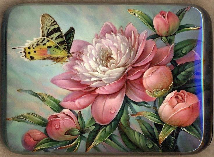 les 281 meilleures images du tableau p peinte brass e de fleurs sur pinterest peinture sur. Black Bedroom Furniture Sets. Home Design Ideas