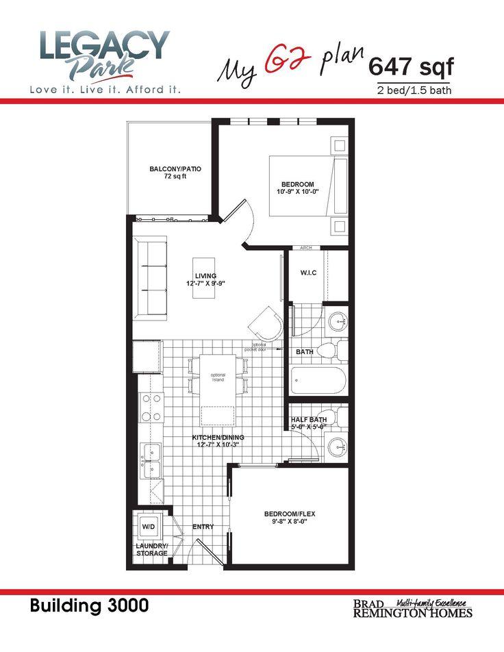 647 sqft  2 bedroom  1 5 bathroom condo. 33 best My Legacy Park images on Pinterest   Bathroom  Bedrooms