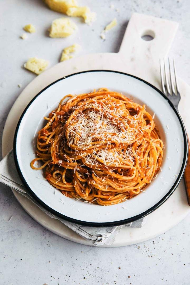 Spaghetti Marinara Easy Tomato Pasta Sauce Recipe Easy Tomato Pasta Yummy Pasta Recipes Tomato Pasta